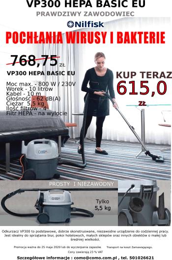 Odkurzacz profesjonalny VP9300 HEPA BASIC Nilfisk