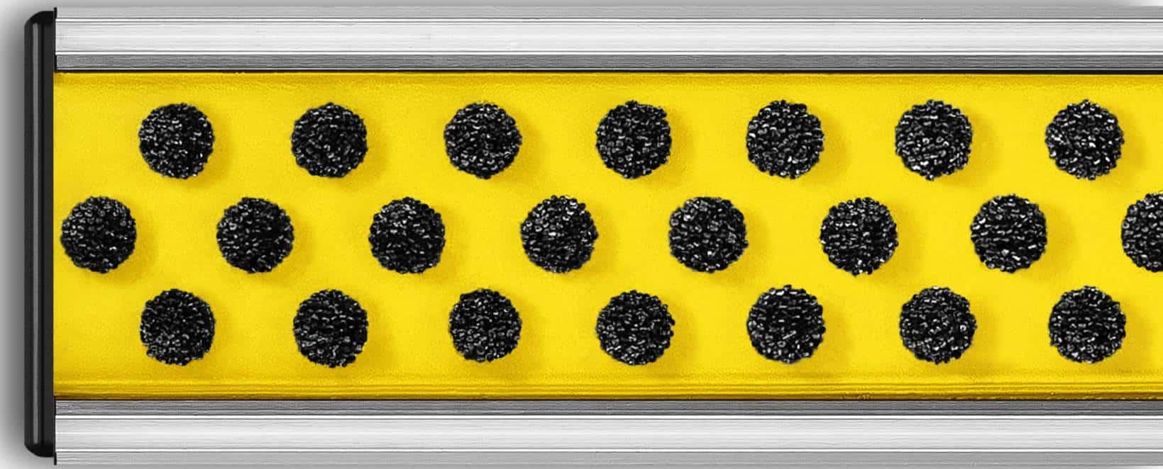 Wycieraczka aluminiowa-szczotkowa_czarna/żółta