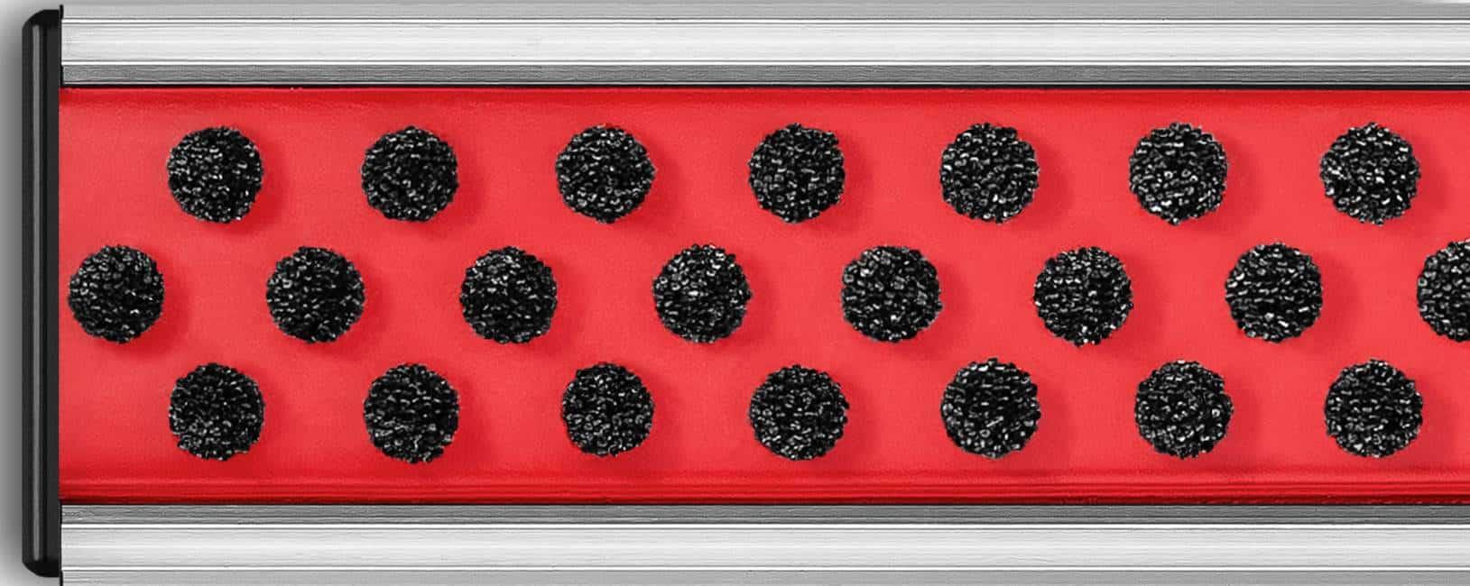 Wycieraczka systemowa-szczotkowa czarna/czerwona
