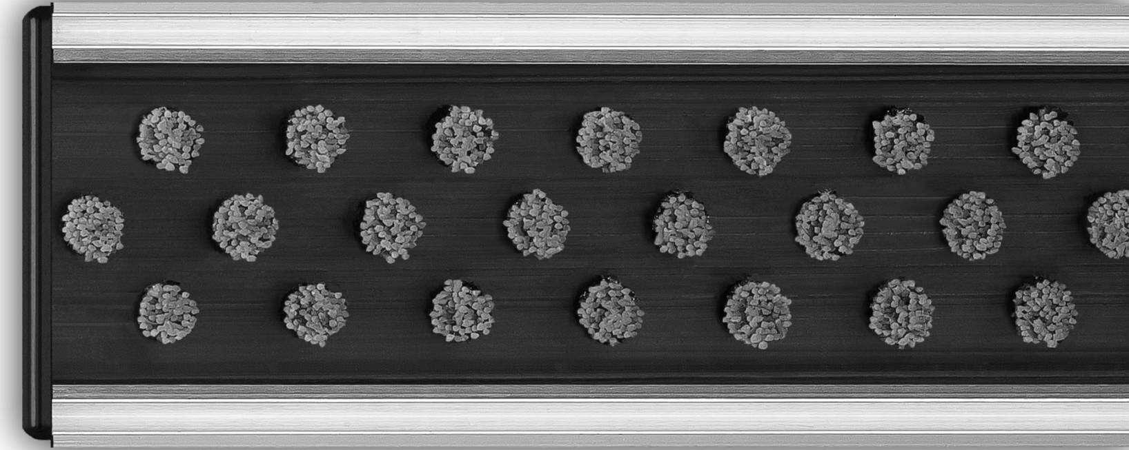 Wycieraczka aluminiowa-szczotkowa_szara