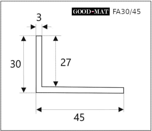 Rama do wycieraczki systemowej FA30/45