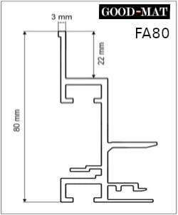 Rama do wycieraczki systemowej FA80 - osadnik