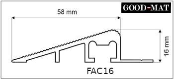 Profil najazdowy do wycieraczki systemowej FAC16