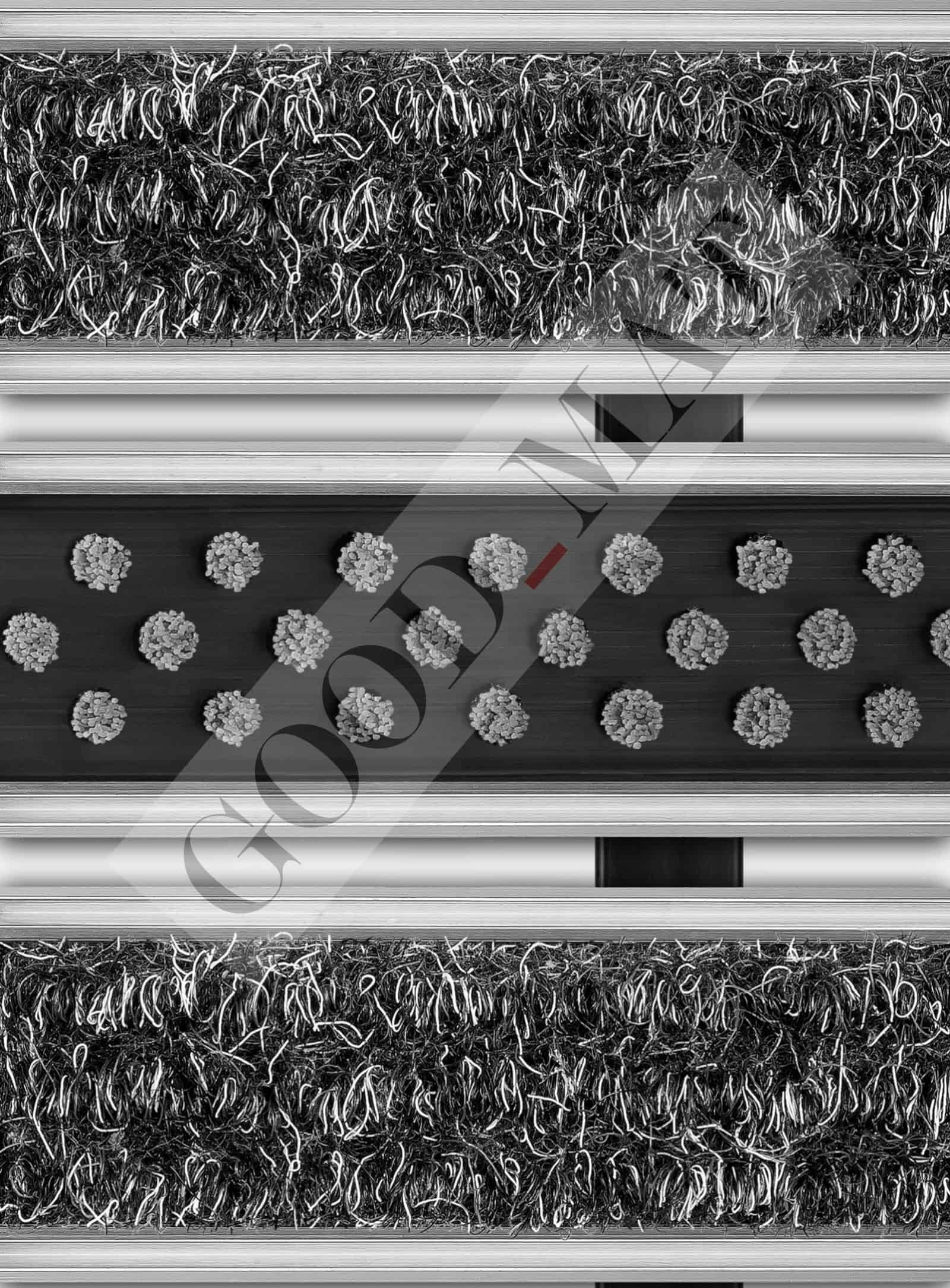 Wycieraczka systemowa szczotkowo-tekstylna