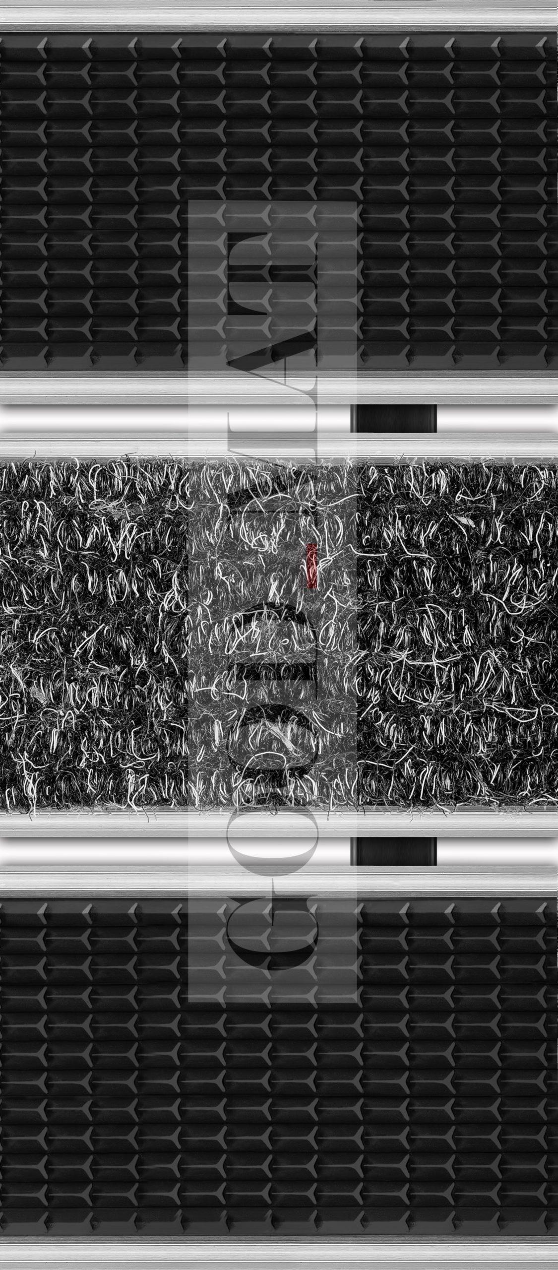 Wycieraczka systemowa tekstylno-gumowa